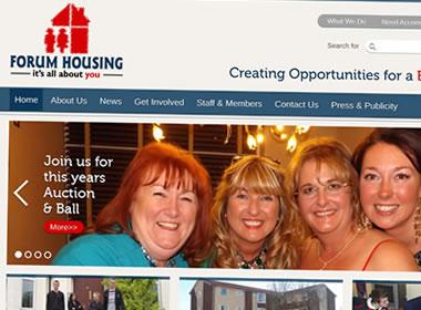 wordpress website design forum housing