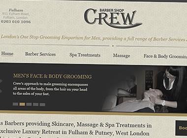 barbers shop website design