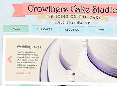 cake shop website designs