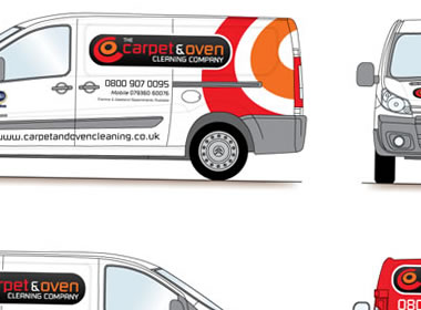 carpet cleaning van graphics