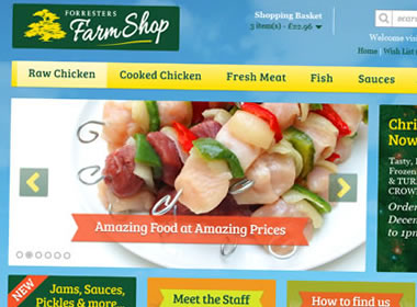 opencart website for farm shop