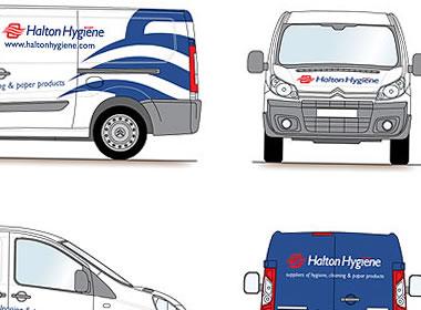 hygiene company van graphics