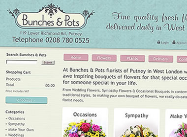 london florist website