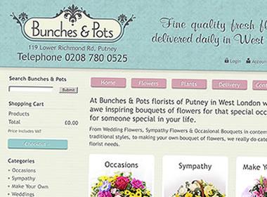 london florist website