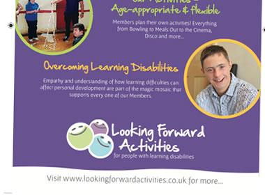 looking forward leaflet design
