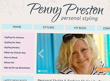 personal stylist website design
