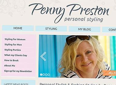 personal stylist website design