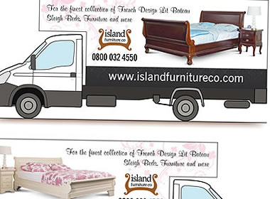 van graphics furniture truck