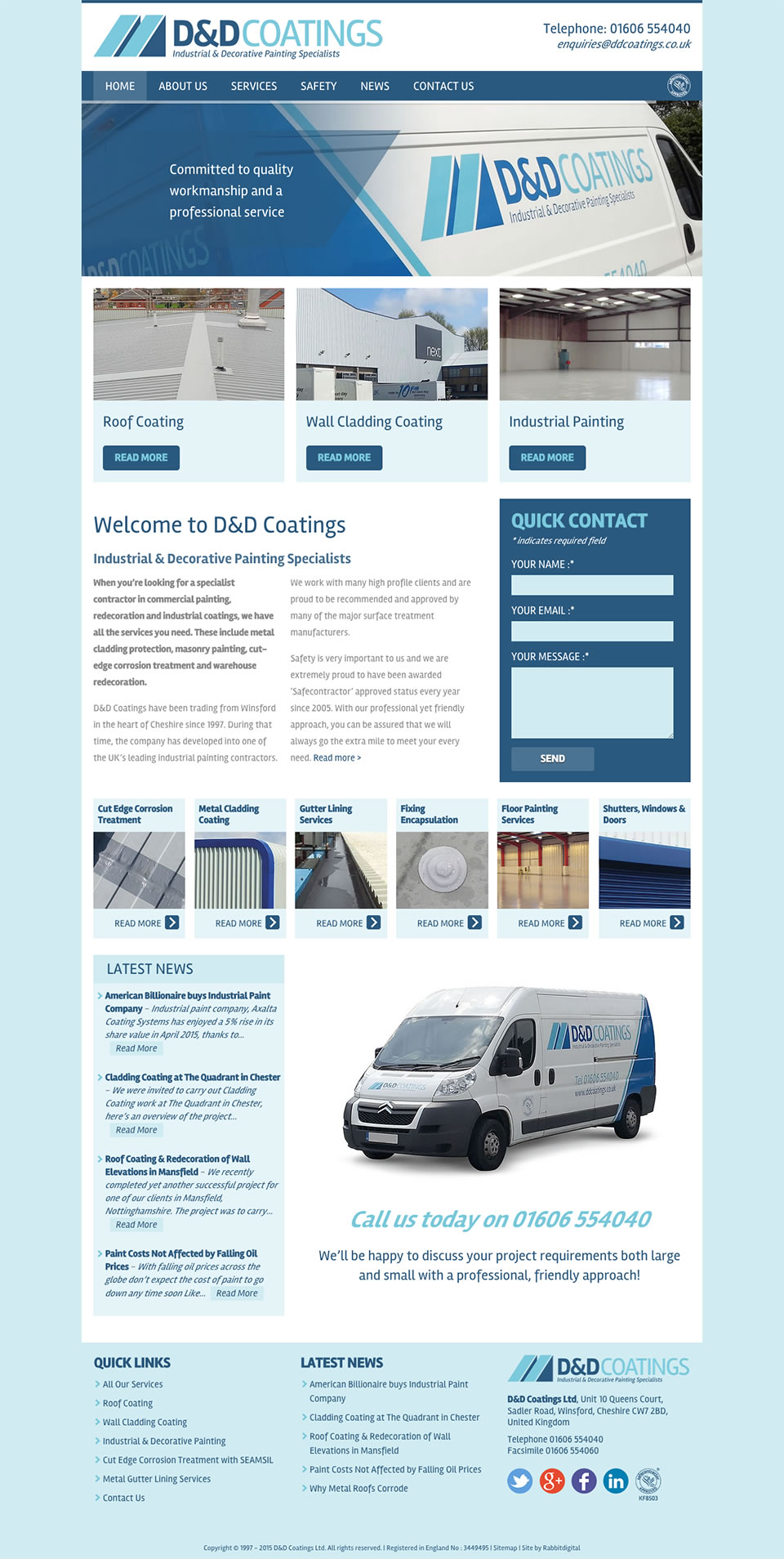 Website design for cheshire industrial coatings company for Industrial design sites