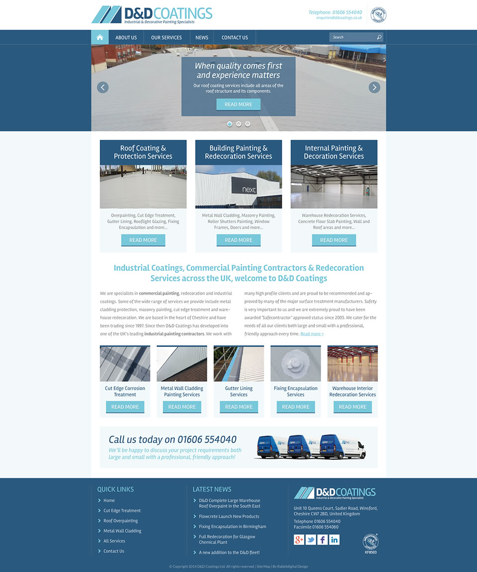 painting company website design 1