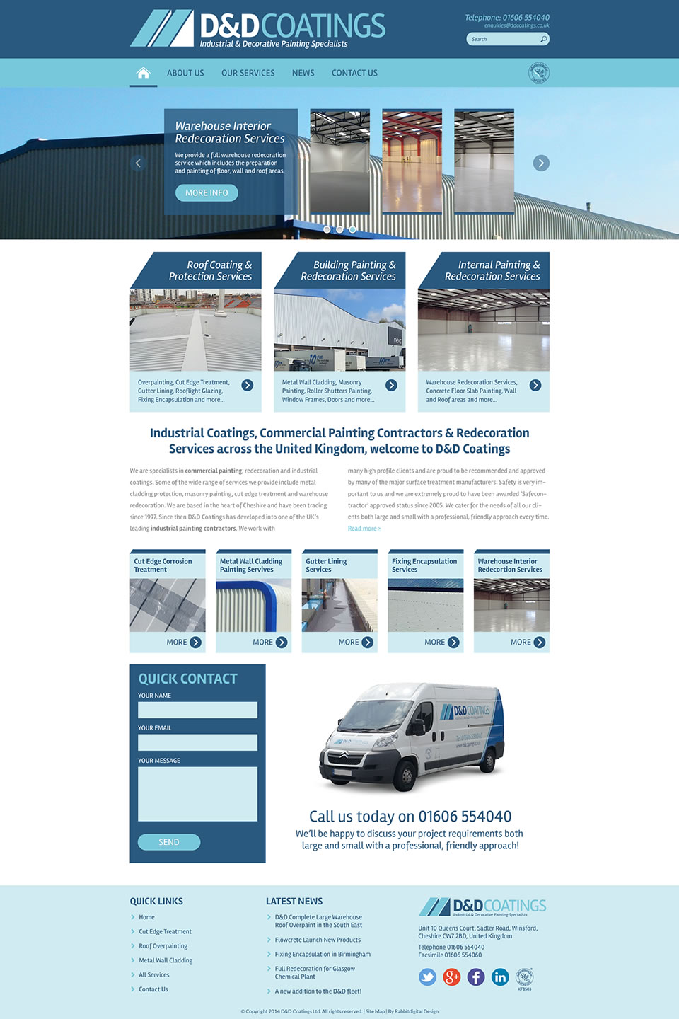 painting company website design 2