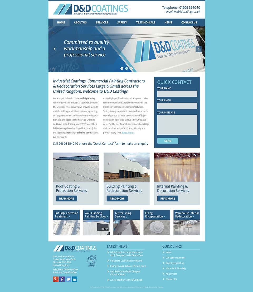 painting company -website design 3
