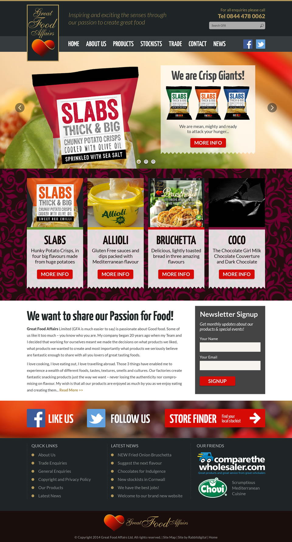 website design comprehansive layout option 1