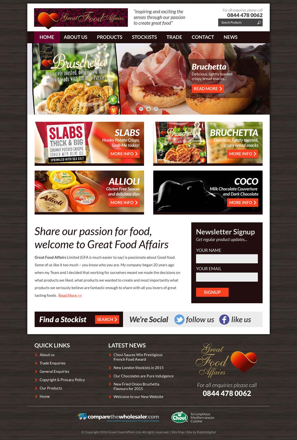 website design comprehansive layout option 2