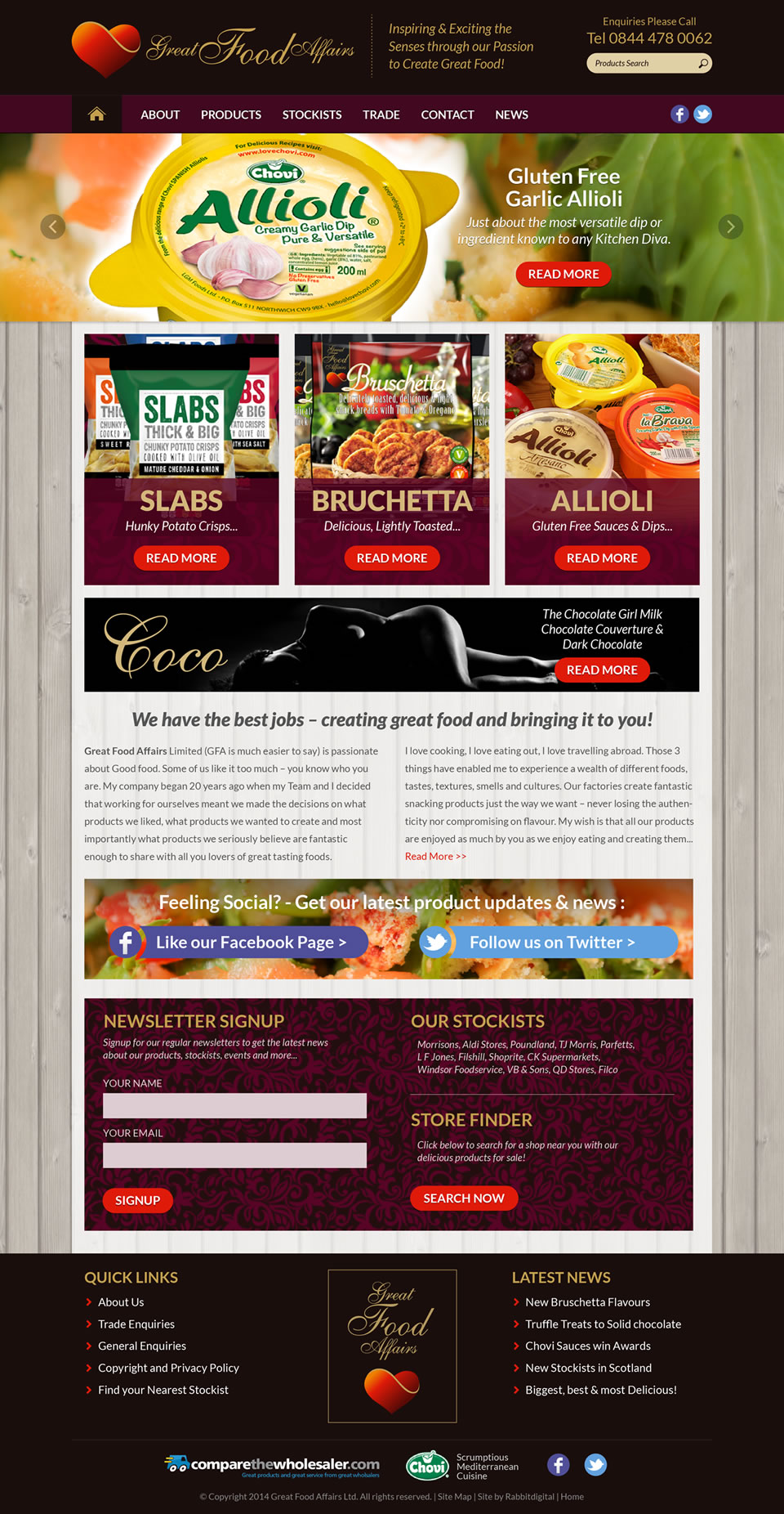 website design comprehansive layout option 3